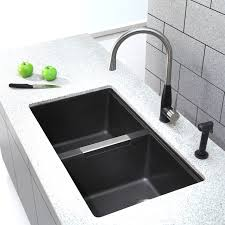 using an elegant black kitchen faucet wearefound home design
