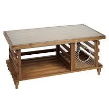 solid wood coffee table with lobster trap christmas tree shops