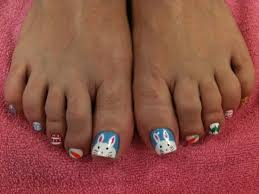 50 easter nail art designs for toes nail design ideaz