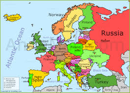 europe map by country europe map with country names major tourist attractions