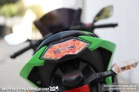 ninja 300 integrated tail light 2013 2017 kawasaki ninja 300 sequential signal led tail light clear