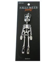 hildie u0026 jo halloween cat face skeleton doll silver pendant joann