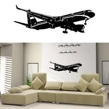 airplane home decor home decor vinyl wall decal sticker plane air boing airbus aircraft