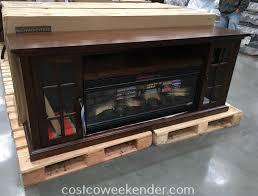 tresanti chimneyfree infrared fireplace and media mantel costco