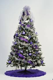 purple christmasee ornaments silver skirtpurple