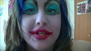 Ursula Costume Ursula Full Face Costume Makeup Tutorial Youtube