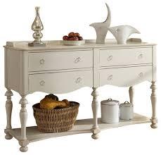 riverside furniture placid cove server in honeysuckle white