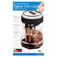 Counter by Magnif Ez Count Money Jar Digital Coin Counter Walmart Com