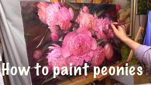 where to buy peonies how to paint peonies painting workshop in