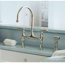 bridge faucets for kitchen sink faucet design golden rohl bridge faucet kitchen side