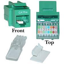 green cat5e rj45 keystone jack toolless cablewholesale