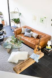 Camel Leather Sofa by 5 Ways To Style A Camel Leather Sofa U2013 Jaymee Srp