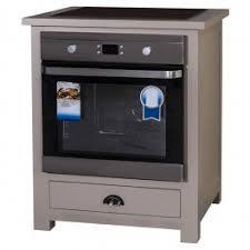 meuble cuisine four plaque meuble bas de cuisine en bois massif 1 tiroir pour plaque de