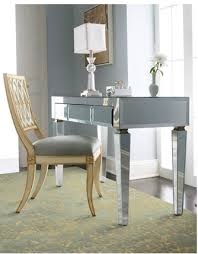 Mirrored Desks Furniture Midtown Decor Mirrored Desk For Home Office Midtown