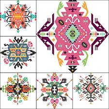 ethnic ornament indian vector free