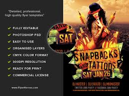 snapbacks and tattoos flyer template flyerheroes