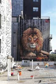 street artist sonny s lion mural is a roaring success new york sonny lion street art mural new york city to the bone 2017 photo