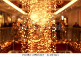 sparkling background made lights festive blurred stock photo