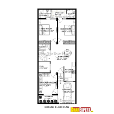 house plan for 23 feet by 56 feet plot plot size 143 square yards