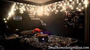 Bedroom String Lights by Bedroom Astounding Hipster Bedroom With String Lighting And Black