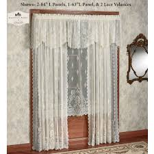 Lace Curtains Decor Dark Curtain Rods With Decorative Penneys Curtains And
