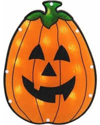 Lighted Halloween Decorations Windows by Deal Alert Northlight 12 In Lighted Holographic Pumpkin