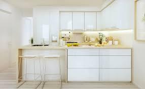 cuisine blanche et plan de travail bois cuisine blanche et bois le mariage parfait pour une ambiance