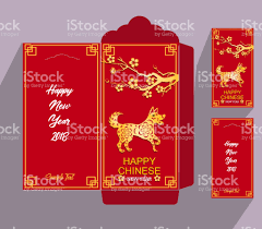 lunar new year envelopes new year envelope flat icon year of the dog 2018 stock