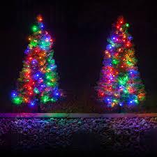outdoor decorations walkway pre lit winchester fir tree backyard