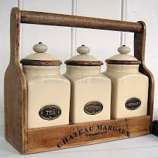 old cream canisters with flour and sugar on jars cream ceramic