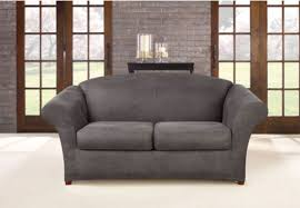 Sofa Covers For Leather Couches Ultimate Stretch Faux Leather Sofa Cover