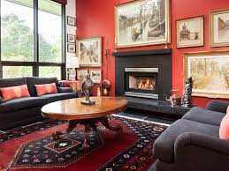 surprising living room with red accents living room tiled floor re