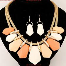 big statement gold necklace images Statement necklace fashion for women 2017 choker female set long jpg