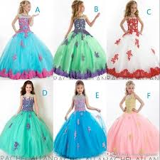 fashion 2017 pageant dresses for girls ball gown beads purple and