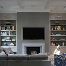 Behind Sofa Bookcase Fireplace With Bookcases Transitional Living Room Alisberg