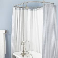 How To Choose A Shower Curtain Gooseneck Shower Conversion Kit With Hand Shower Bathroom