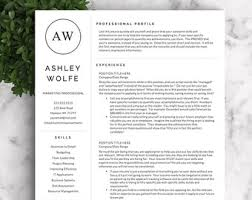 Resume Template Modern by Modern Resume Template For Word And Pages Creative Modern