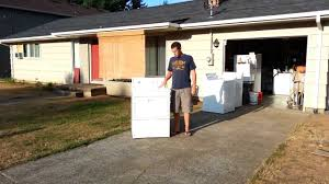 How To Hide Washer And Dryer by How To Move A Dryer Without A Hand Truck Youtube