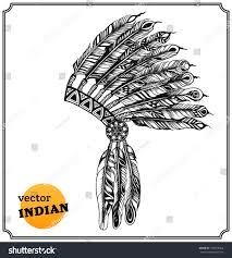 indian headdress sketch free here