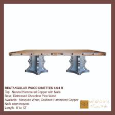020 rectangular dining table vintage imperial red wood base