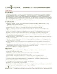 sample grant writer resume grant writer resume template