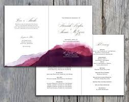 purple wedding programs 32 best bi fold wedding programs images on card stock
