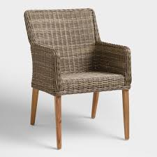 World Market Outdoor Chairs by Gray All Weather Wicker Borgia Dining Chair World Market