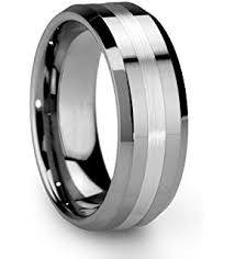 mens wedding bands that don t scratch 8mm tungsten metal men s wedding band ring in comfort fit and