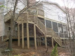 Two Story Deck Charotte Matthews Weddington Home Addition Room Addition