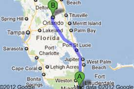 Florida Orlando Map by Miami Shuttle One Way