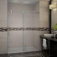 aston langham 60 in x 75 in completely frameless sliding shower