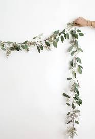 diy eucalyptus garland homey oh my