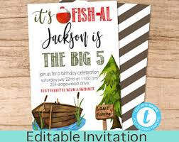 fishing invitations etsy