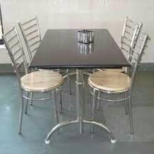 steel dining table set silver stainless steel dining table chairs rs 12999 set id